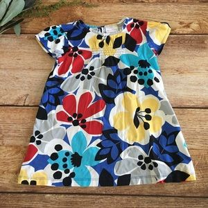 Hanna Andersson bold floral 110 Dress/tunic